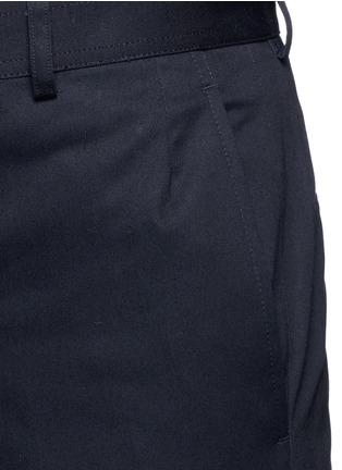 细节 - 点击放大 - THOM BROWNE - 纯棉斜纹直脚长裤
