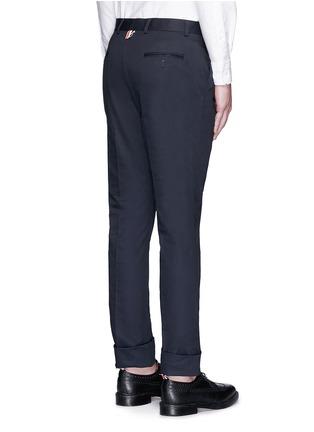 背面 - 点击放大 - THOM BROWNE - 纯棉斜纹直脚长裤