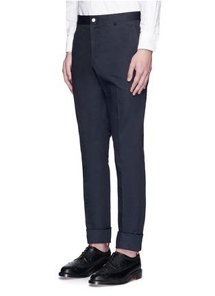 正面 -点击放大 - THOM BROWNE - 纯棉斜纹直脚长裤