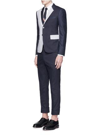 模特儿示范图 - 点击放大 - THOM BROWNE - 纯棉斜纹直脚长裤