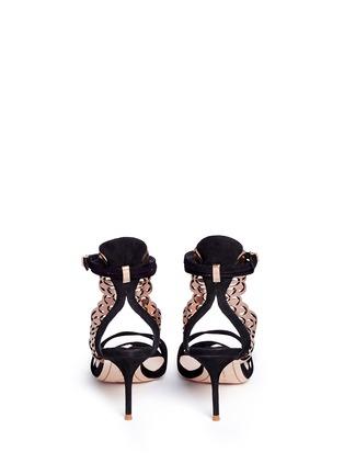 Back View - Click To Enlarge - Sophia Webster - 'Micah' angel wing appliqué suede sandals