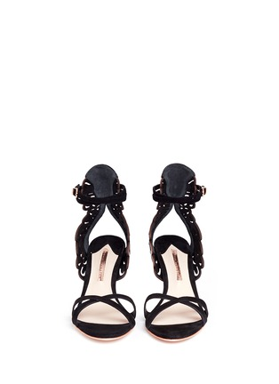 Front View - Click To Enlarge - Sophia Webster - 'Micah' angel wing appliqué suede sandals