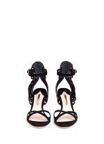 'Micah' angel wing appliqué suede sandals