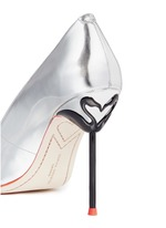 'Coco Flamingo' metallic mirror leather pumps