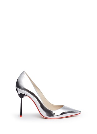 Main View - Click To Enlarge - Sophia Webster - 'Coco Flamingo' metallic mirror leather pumps