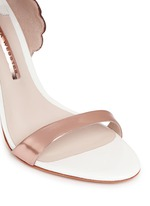 'Evangeline' 3D angel wing appliqué leather sandals