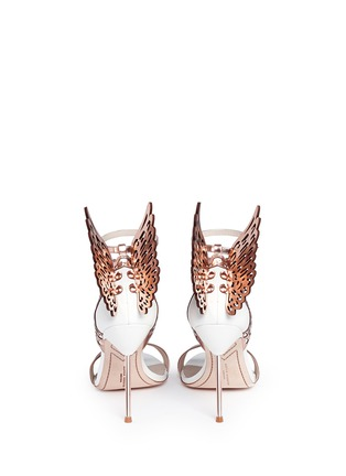 Back View - Click To Enlarge - Sophia Webster - 'Evangeline' 3D angel wing appliqué leather sandals
