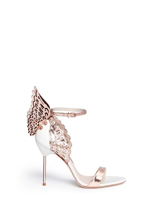 Main View - Click To Enlarge - Sophia Webster - 'Evangeline' 3D angel wing appliqué leather sandals
