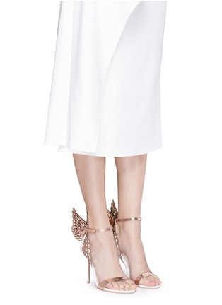 Figure View - Click To Enlarge - Sophia Webster - 'Evangeline' 3D angel wing appliqué leather sandals