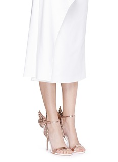 SOPHIA WEBSTER 'Evangeline' 3D angel wing appliqué leather sandals