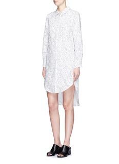 CHICTOPIAFloral guipure lace shirt dress
