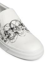 Skull sketch leather skate slip-ons