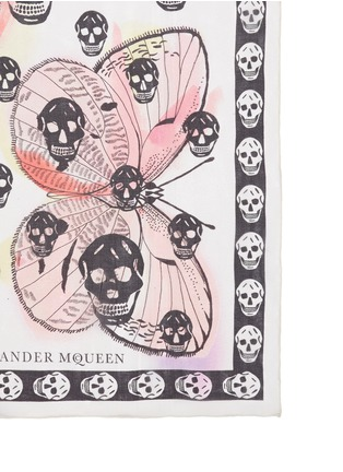 Detail View - Click To Enlarge - Alexander McQueen - Butterfly skull silk chiffon scarf