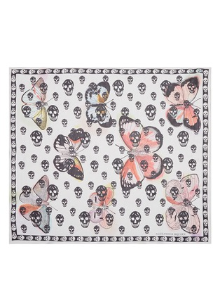 Main View - Click To Enlarge - Alexander McQueen - Butterfly skull silk chiffon scarf
