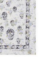Ramage skull silk chiffon scarf