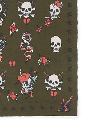Detail View - Click To Enlarge - Alexander McQueen - Skull tattoo silk bandana
