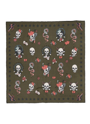 Main View - Click To Enlarge - Alexander McQueen - Skull tattoo silk bandana
