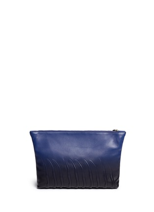 Back View - Click To Enlarge - Alexander McQueen - Spinal cord gradient leather zip pouch