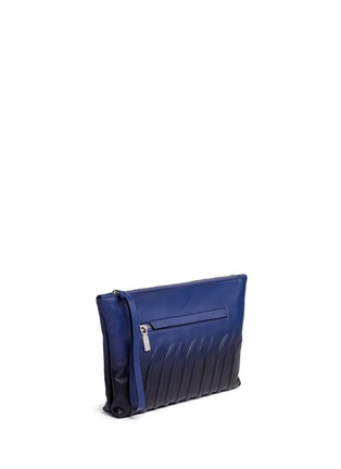 Front View - Click To Enlarge - Alexander McQueen - Spinal cord gradient leather zip pouch