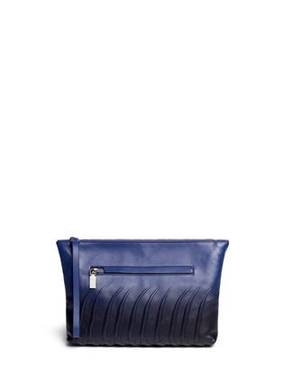 Main View - Click To Enlarge - Alexander McQueen - Spinal cord gradient leather zip pouch