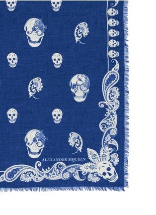 Alexander McQueen-Paisley skull modal-silk scarf