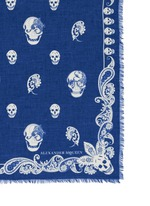 Paisley skull modal-silk scarf
