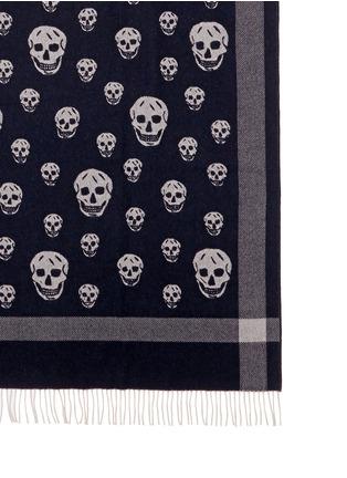 Alexander McQueen-Classic skull wool-cashmere blanket