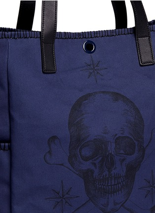 Detail View - Click To Enlarge - Alexander McQueen - Skull tattoo print canvas tote bag