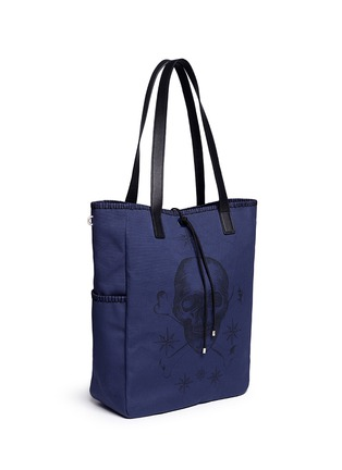 Front View - Click To Enlarge - Alexander McQueen - Skull tattoo print canvas tote bag