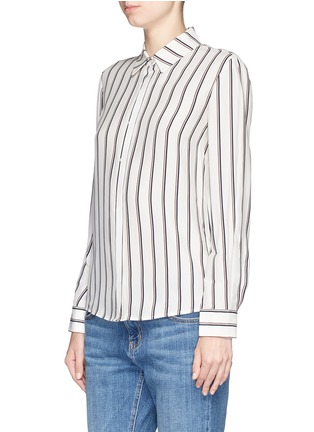 Front View - Click To Enlarge - Frame Denim - 'Le Classic' stripe silk shirt