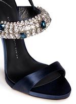 'Coline' rhinestone band satin sandals