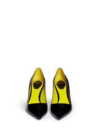 Figure View - Click To Enlarge - René Caovilla - Point toe patent leather pumps