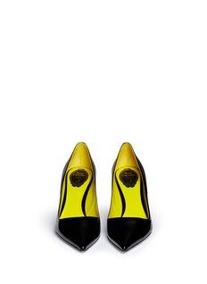 René CaovillaPoint toe patent leather pumps