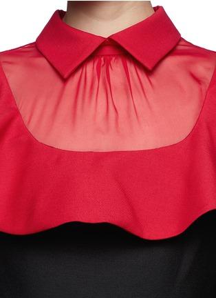 Detail View - Click To Enlarge - Valentino - Ruffle organza bib collar dress