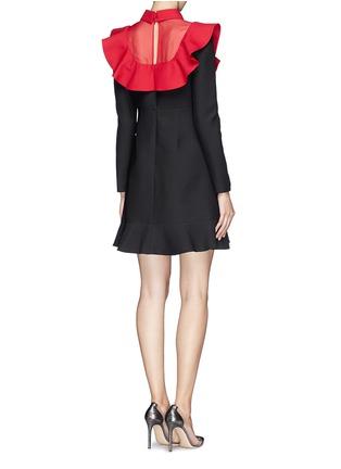 Back View - Click To Enlarge - Valentino - Ruffle organza bib collar dress