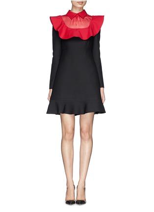 Main View - Click To Enlarge - Valentino - Ruffle organza bib collar dress