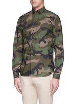 Camouflage print cotton poplin shirt