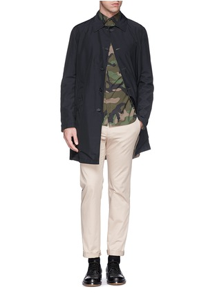 Figure View - Click To Enlarge - Valentino - Camouflage print cotton poplin shirt