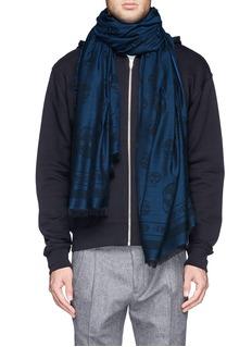Alexander McQueenClassic skull reversible cotton-blend scarf