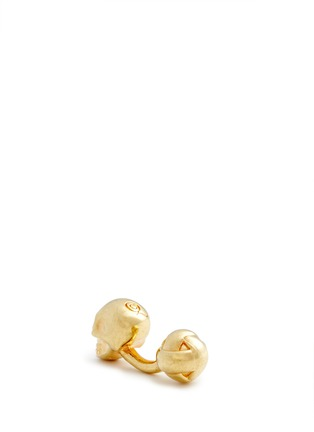 Detail View - Click To Enlarge - Alexander McQueen - Crystal skull cufflinks