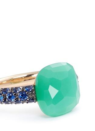 细节 - 点击放大 - POMELLATO - Capri 18K玫瑰金绿玉髓蓝宝石戒指