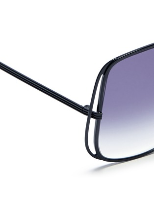 Detail View - Click To Enlarge - Victoria Beckham - Halo frame oversize metal sunglasses