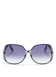 VICTORIA BECKHAMHalo frame oversize metal sunglasses