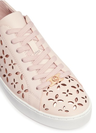 Detail View - Click To Enlarge - Michael Kors - 'Keaton' floral lasercut perforated leather sneakers