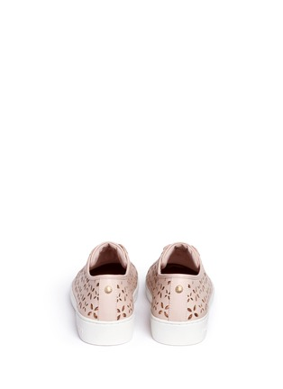 Back View - Click To Enlarge - Michael Kors - 'Keaton' floral lasercut perforated leather sneakers