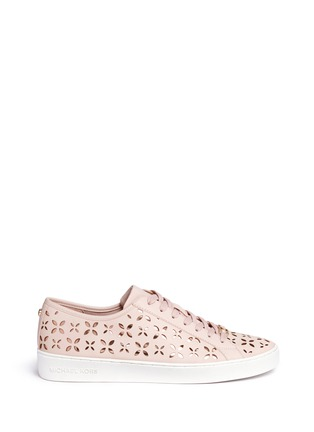 Main View - Click To Enlarge - Michael Kors - 'Keaton' floral lasercut perforated leather sneakers