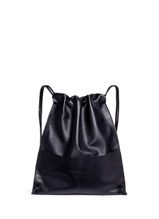 A-Esque 'Draw Pack 01' leather drawstring backpack