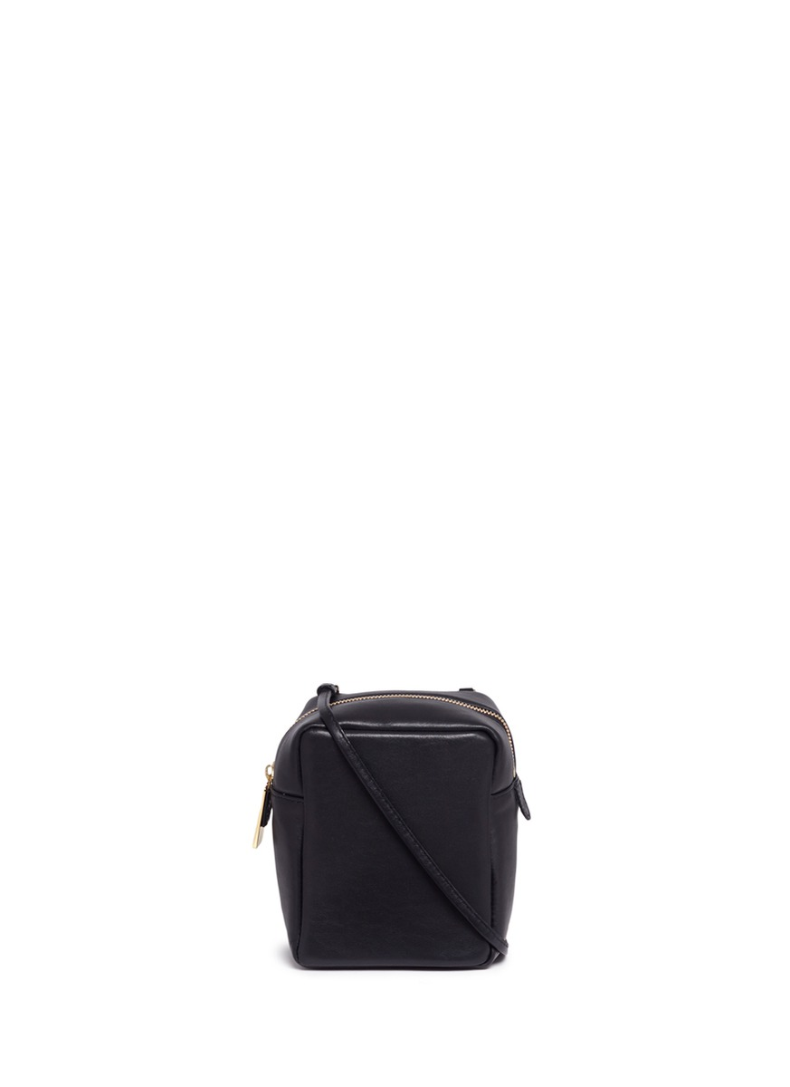 Container Micro leather box bag by A-Esque