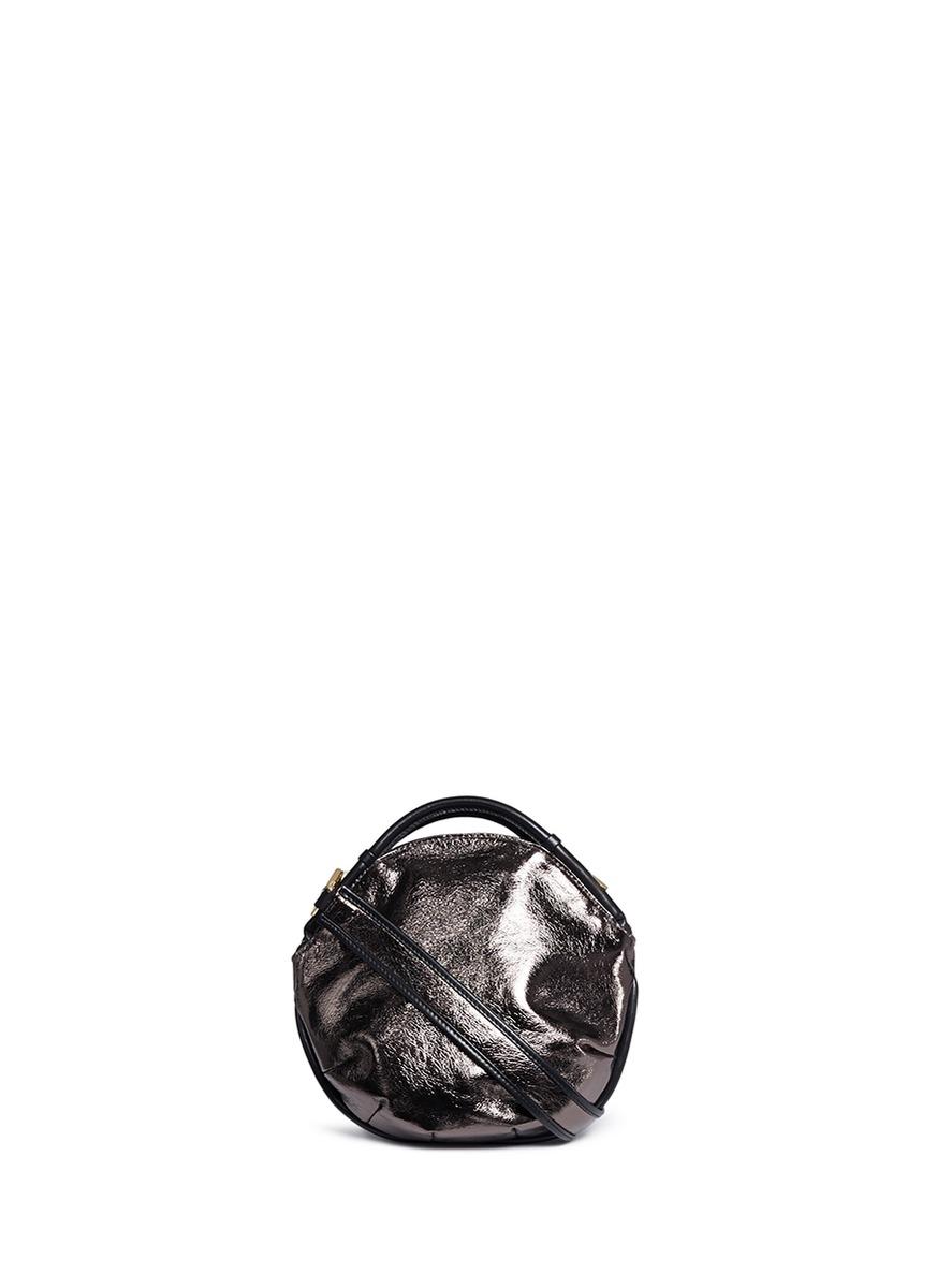 Petal Pure Mini colourblock metallic leather bag by A-Esque