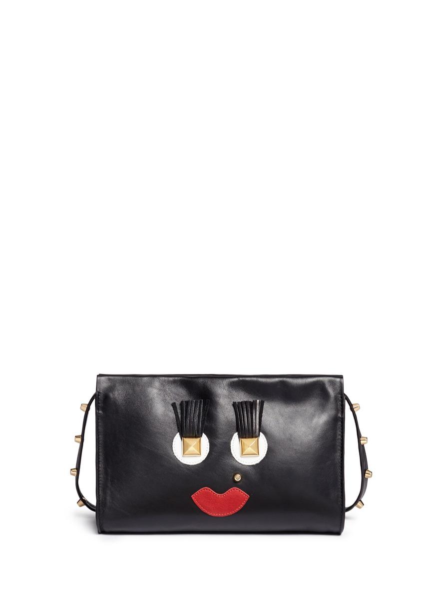 Box Clutch Midi 02 Happy leather bag by A-Esque